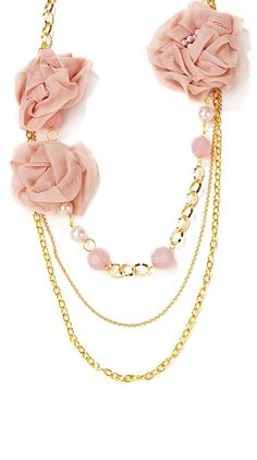 Pink && Gold Necklace