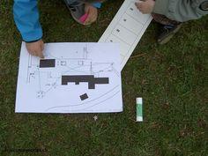 ecoles enfantines - Lecture du plan - chasse aux oeufs