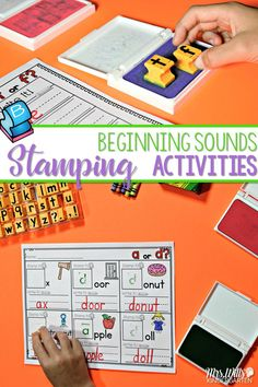 Phonics fun in a stamping center! Your kindergarten students love using the stamps to create words. This has always been one of my class favorite activities. This unit will cover beginning sounds. Students will listen for the first sound they hear and stamp the beginning letter.