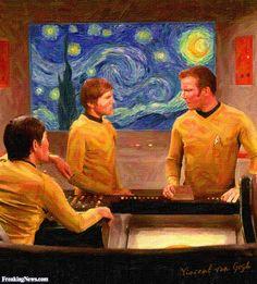 Starry Night in Star Trek by Van Gogh