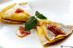 Clatite cu Ricotta si sos de portocale