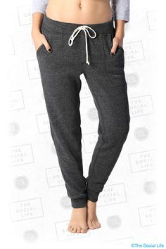 Alternative Apparel - Jogger Eco-Fleece Pants Upgrade your sweatpant game with our super soft Eco-Fleece Jogger Pant. Tailored pockets, drawstring and tapered bottom cuff.