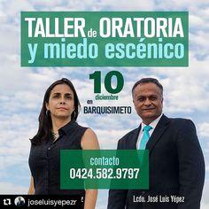 Taller de Oratoria y Miedo Escénico en Barquisimeto este sábado 10 de diciembre de 2016. Cupos limitados. Información por el teléfono 04245829797. Incluye certificado. Tarifa de preventa hasta el 30 de noviembre. #taller #oratoria #miedoescenico #hablarenpublico #barquisimeto #lara #venezuela #Repost @joseluisyepezr with @repostapp