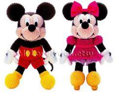 Mickey & Minnie Mouse Amigurumi Crochet Pattern by MintyHandmade