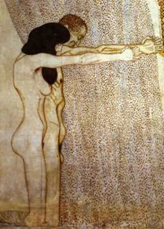 Beethoven frieze(detail)11 (1902), Oil by Gustav Klimt (1862-1918, Austria)