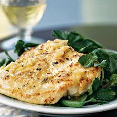 Chicken Scaloppine with Spring Herb Salad