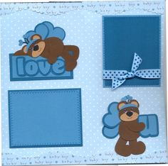 Baby Scrapbook Layouts | ... You Forever Baby Boy Paper Piecing Premade Scrapbook Pages | eBay