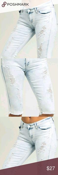Women Blue Destroyed Distressed Bermuda Shorts Blue Wash Knee Ripped Shorts culture Shorts Bermudas