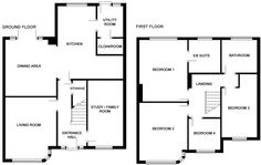 Floorplan of an extension to a semi in Sale Side Extension, Extension Ideas, 1930s House, House Extensions, Open Plan Kitchen, House Prices, Home Renovation, Property For Sale, My House
