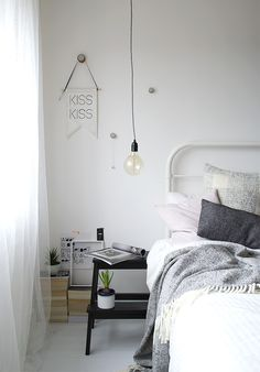 bedroom styling.