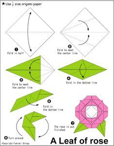 Origami-Papierwürfel falten - New Ideas Origami Design, Diy Origami, Easy Origami Rose, Origami Love Heart, Origami Paper Folding, Origami Star Box, Origami Leaves, Origami Flowers, Origami Instructions