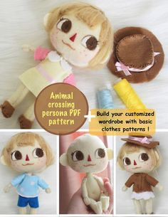 Animal Crossing Qr Codes, Animal Crossing Plush, Animal Crossing Characters, Diy Arts And Crafts, Cute Crafts, Crafts To Do, Felt Dolls, Plush Dolls, Plushie Patterns