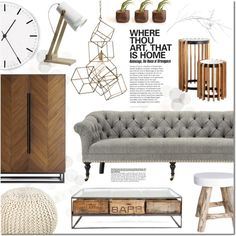 Bring it Home by justlovedesign on Polyvore featuring interior, interiors, interior design, home, home decor, interior decorating, Crate and Barrel, Surya, Nordal and Arteriors