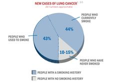 Between 20,000 to 30,000 people who have never smoked are diagnosed with lung cancer in the U.S. each year.