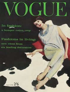 Vogue March 1961.  EDITOR:   Ailsa Garland  COVER photographer: David Bailey  MODEL:  Penny Noel