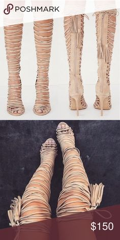 Jeffrey Campbell LevLuv Lace Up Heel Worn only once, no flaws :) size 9.5 Jeffrey Campbell Shoes Heels