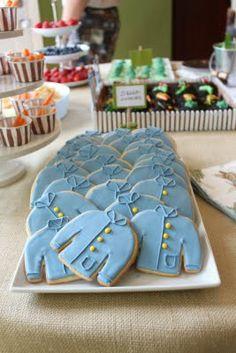 Blue jacket cookies