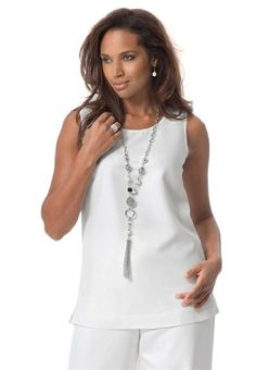 Roamans Women's Plus Size Three-Piece Duster Pant Suit - http://cheune.com/a/37712040124461057