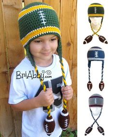 Looking for your next project? Youre going to love Football Beanie of Awesomeness by designer BriAbby.