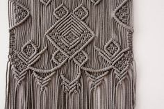 This medium size macrame wall hanging made from 5 mm natural cotton cord beautiful taupe color. This is especially suitable for living room, bedroom, kids room and even for a cozy cafe. The geometric picture will look great in different modern interior's concepts: boho, scandinavian, rustic,