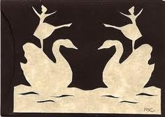 hans christian andersen paper cuts - whats amazing about this design is that when you look at it it reminds you about the famous story that H.C Andersen written about the sawn and the ugly duckling.