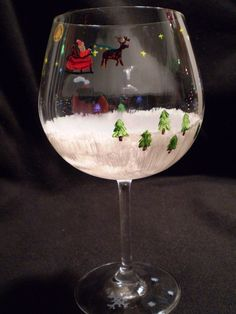 Christmas Wine Glass by ~djaymes89 on deviantART