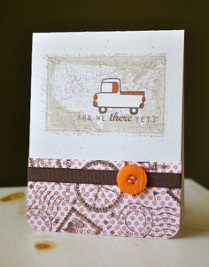 Are We There Yet Card by Maile Belles for Papertrey Ink (May 2011)