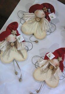 - Happy Christmas - Noel 2020 ideas-Happy New Year-Christmas Diy Christmas Angel Ornaments, Felt Ornaments, Christmas Angels, Christmas Decorations, Christmas Fairy, Ornaments Design, Christmas Wishes, Angel Crafts, Christmas Projects