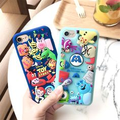 Toy story case For iphone 7 Cute Cartoon Monsters 3D Soft Silicon Cases For iphone 6 6s 7 7Plus back cover fundas Capa