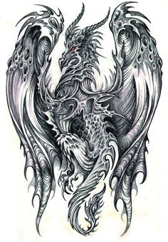 Excellent Pencil Drawings  ~  Dragons
