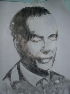 Aldus Huxley retrato nanquin.