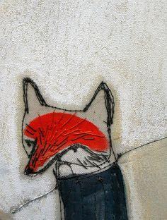 mummysam's little fox~ paint with needlework, great combo!