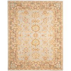 Safavieh Hand-made Antiquities Teal/ Brown Hand-spun Wool Rug (8' x 10')