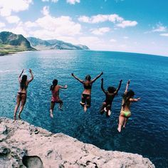 Cliff jumping. Beachy. Sunshine. Pinterest: pearlxoxoxo