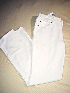 1ed63145 Chico's Platinum Women's White Stretch Jeans Pants NWOT Sz 00Reg Straight-leg  #fashion #