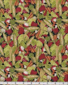 Farmland, South Sea Imports Fabric, Veggie by MaddysFabricStash for $4.80