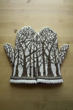 I like the idea of a winter hoop that's just some cute mittens. You could run in any direction with it, mittened hands, mittens that depict a winter scene like these, mittens that just look awesome, anything really. Mittens Pattern, Knit Mittens, Knitted Gloves, Fair Isle Knitting, Hand Knitting, Knitting Patterns, Crochet Patterns, Knitting Socks, Knitting Projects