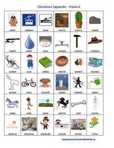 Výslovnost hlásek :: 32zsul-husakovas7 Baby List, Kindergarten, Preschool, Language, Activities, Education, Logos, Languages, Autism