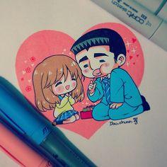 Tenia unas ganas enormes de dibujarlos (•7•)/ Takeo fue un poco difícil…