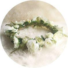 I love.. White Wedding Flower Crown