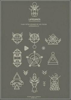 I N K S P I R A T I O N / Flash Tattoo by Luis Toledo LAPRISAMATA #LogoCore