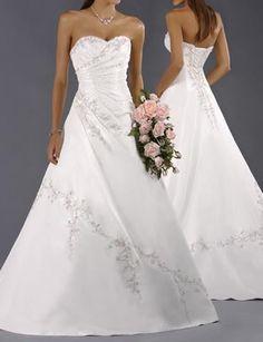 2014+100%Lager+Weißes+Hochzeitskleid+Braut+Brautkleid+Größe:34-36-38-40-42-44+