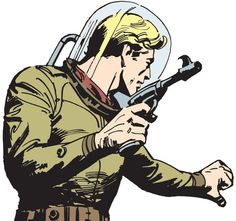 "Few comic strips have captured readers' imaginations like ""Flash Gordon"". Originated in 1934 by legendary comic-strip artist Alex Raymond, Flash Gordon has set the standard for science-fiction adventure. Comic Book Pages, Comic Page, Comic Books, Space Fantasy, Fantasy Art, Flash Gordon Comic, Comics Kingdom, Sci Fi Comics, Retro Futuristic"