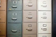 5 Easy Tips for Painting a Metal Filing Cabinet | DoItYourself.com | http://www.doityourself.com/stry/5-easy-tips-for-painting-a-metal-filing-cabinet#.U4APTS_0Mv4