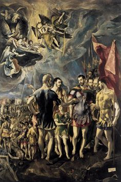 Martyrdom of St. Maurice and His Legions, 1580, El Greco Size: 301x448 cm Medium: oil, canvas