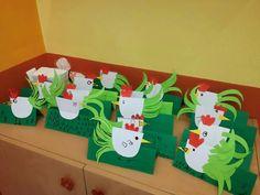 Slepicka Easter Arts And Crafts, Easter Activities For Kids, Spring Crafts, Frog Crafts, Bunny Crafts, Diy Christmas Cards, Kindergarten Art, Art Plastique, Projects For Kids