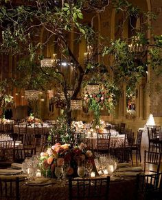 Enchanted Forest Wedding Ideas: Create The Dream! Incorporate a decorated tree to the indoor venue to create a magical forest wedding.Incorporate a decorated tree to the indoor venue to create a magical forest wedding. Enchanted Forest Wedding, Woodland Wedding, Magical Forest, Forest Wedding Themes, Enchanted Wedding Ideas, Rustic Forest Wedding, Beautiful Forest, Beautiful Beautiful, Deco Floral