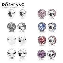 DORAPANG Echt 925 Sterling Zilver Bracele fittings DIY Armband onderdelen Echt Sieraden Charm kralen Sieraden fabriek groothandel(China)