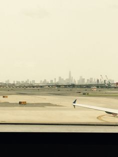 New York City from Newark airport. This is the first time I have been on the east -coast.
