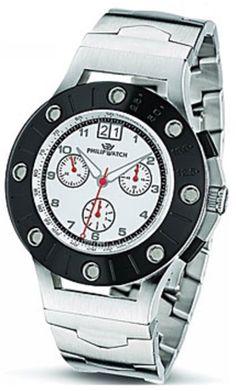 Scegli un orologio da polso PHILIP WATCH, da uomo, se vuoi essere elegante, di tipo cronografo con bracciale in acciaio con movimento al quarzo.